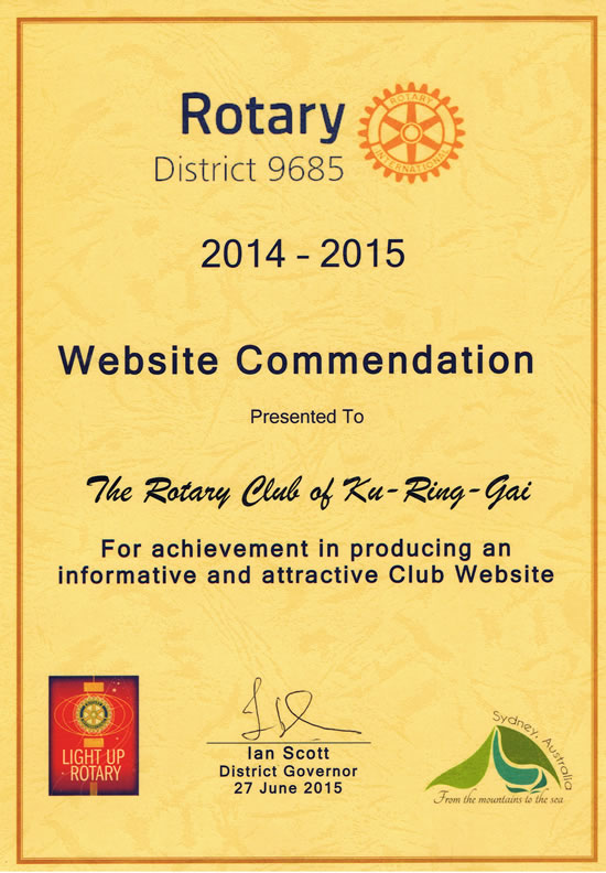 website commendation